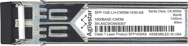 Juniper Networks SFP-1GE-LH-CWDM-1430-AS (Agilestar Original) SFP Transceiver Module