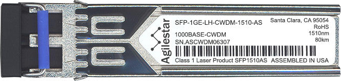 Juniper Networks SFP-1GE-LH-CWDM-1510-AS (Agilestar Original) SFP Transceiver Module