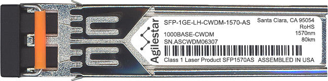 Juniper Networks SFP-1GE-LH-CWDM-1570-AS (Agilestar Original) SFP Transceiver Module