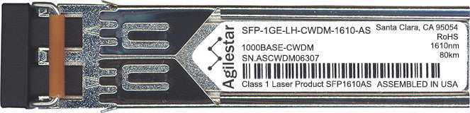 Juniper Networks SFP-1GE-LH-CWDM-1610-AS (Agilestar Original) SFP Transceiver Module