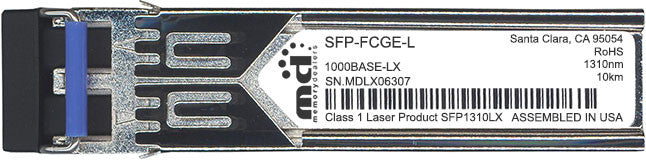 Cisco SFP Transceivers SFP-FCGE-L (100% Cisco Compatible) SFP Transceiver Module