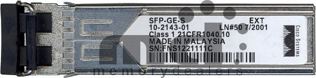 Cisco SFP Transceivers SFP-GE-S (Cisco Original) SFP Transceiver Module