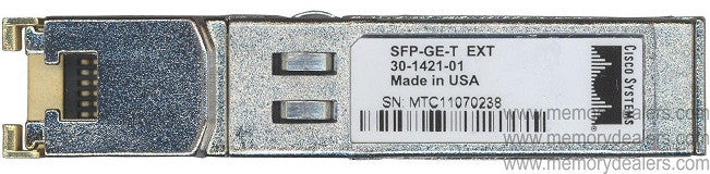 Cisco SFP Transceivers SFP-GE-T (Cisco Original) SFP Transceiver Module
