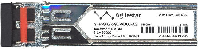 Alcatel SFP Transceivers SFP-GIG-59CWD60-AS (Agilestar Original) SFP Transceiver Module