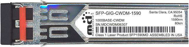 Alcatel SFP Transceivers SFP-GIG-CWDM-1590 (100% Alcatel Compatible) SFP Transceiver Module