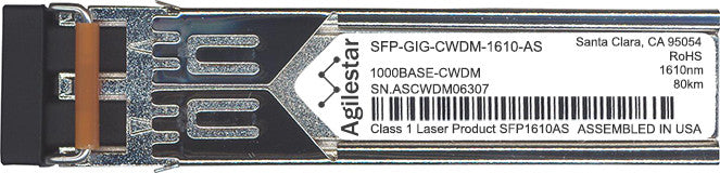 Alcatel SFP Transceivers SFP-GIG-CWDM-1610-AS (Agilestar Original) SFP Transceiver Module