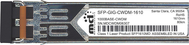 Alcatel SFP Transceivers SFP-GIG-CWDM-1610 (100% Alcatel Compatible) SFP Transceiver Module