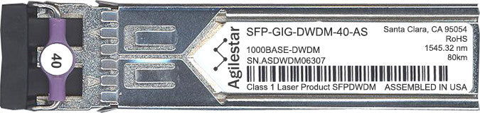 Alcatel SFP Transceivers SFP-GIG-DWDM-40-AS (Agilestar Original) SFP Transceiver Module