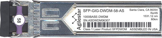 Alcatel SFP Transceivers SFP-GIG-DWDM-58-AS (Agilestar Original) SFP Transceiver Module