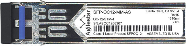 Cisco SFP Transceivers SFP-OC12-MM-AS (Agilestar Original) SFP Transceiver Module