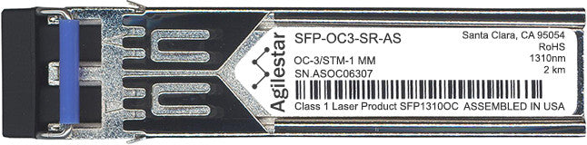 Juniper Networks SFP-OC3-SR-AS (Agilestar Original) (Compatible with Juniper) SFP Transceiver Module