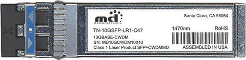Transition Networks TN-10GSFP-LR1-C47 (100% Transition Networks Compatible) SFP+ Transceiver Module