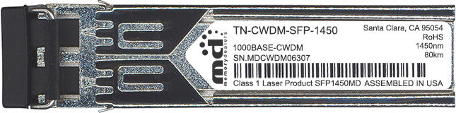 Transition Networks TN-CWDM-SFP-1450 (100% Transition Networks Compatible) SFP Transceiver Module