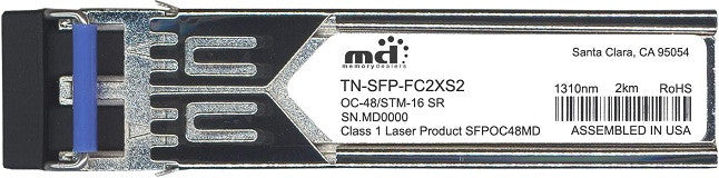 Transition Networks TN-SFP-FC2XS2 (100% Transition Networks Compatible) SFP Transceiver Module