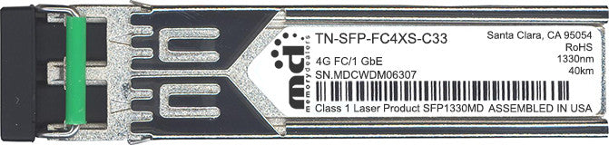 Transition Networks TN-SFP-FC4XS-C33 (100% Transition Networks Compatible) SFP Transceiver Module