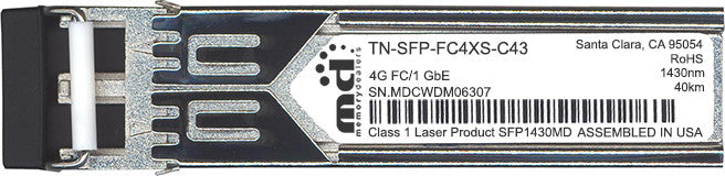 Transition Networks TN-SFP-FC4XS-C43 (100% Transition Networks Compatible) SFP Transceiver Module