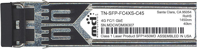 Transition Networks TN-SFP-FC4XS-C45 (100% Transition Networks Compatible) SFP Transceiver Module