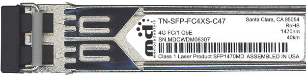 Transition Networks TN-SFP-FC4XS-C47 (100% Transition Networks Compatible) SFP Transceiver Module