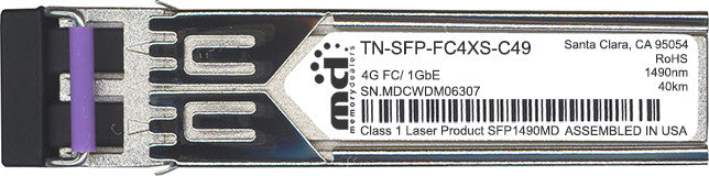 Transition Networks TN-SFP-FC4XS-C49 (100% Transition Networks Compatible) SFP Transceiver Module