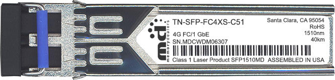 Transition Networks TN-SFP-FC4XS-C51 (100% Transition Networks Compatible) SFP Transceiver Module