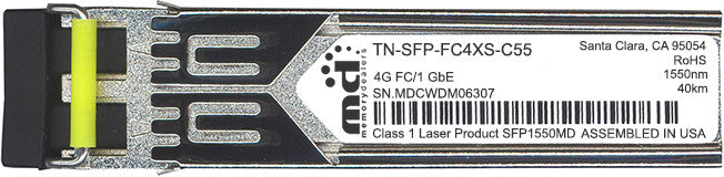 Transition Networks TN-SFP-FC4XS-C55 (100% Transition Networks Compatible) SFP Transceiver Module