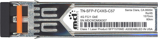 Transition Networks TN-SFP-FC4XS-C57 (100% Transition Networks Compatible) SFP Transceiver Module