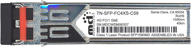 Transition Networks TN-SFP-FC4XS-C59 (100% Transition Networks Compatible) SFP Transceiver Module