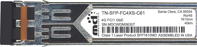 Transition Networks TN-SFP-FC4XS-C61 (100% Transition Networks Compatible) SFP Transceiver Module