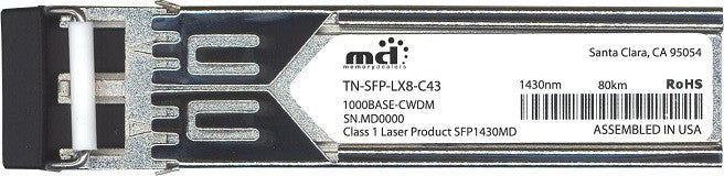 Transition Networks TN-SFP-LX8-C43 (100% Transition Networks Compatible) SFP Transceiver Module
