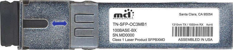Transition Networks TN-SFP-OC3MB1 (100% Transition Networks Compatible) SFP Transceiver Module