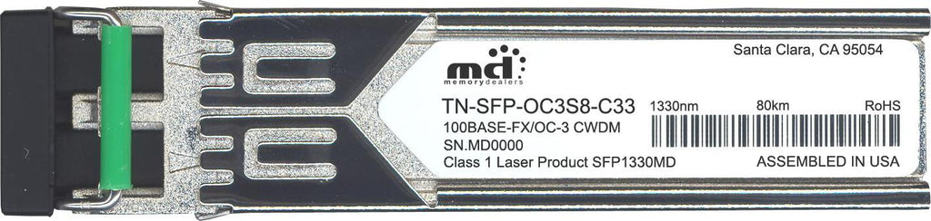 Transition Networks TN-SFP-OC3S8-C33 (100% Transition Networks Compatible) SFP Transceiver Module