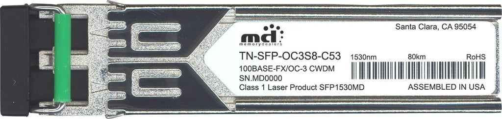 Transition Networks TN-SFP-OC3S8-C53 (100% Transition Networks Compatible) SFP Transceiver Module