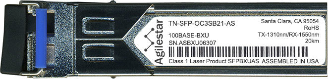 Transition Networks TN-SFP-OC3SB21-AS (Agilestar Original) SFP Transceiver Module