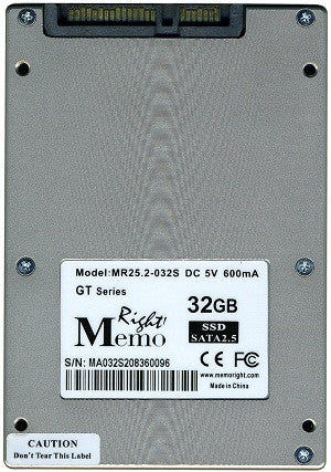 Memory 32GB MemoRight Solid State Drive (p/n MR25.2-032S)  Transceiver Module