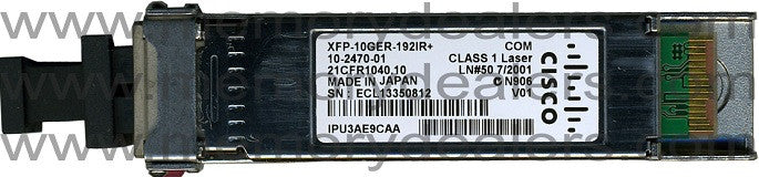Cisco XFP Transceivers XFP-10GER-OC192IR+ (Cisco Original) XFP Transceiver Module