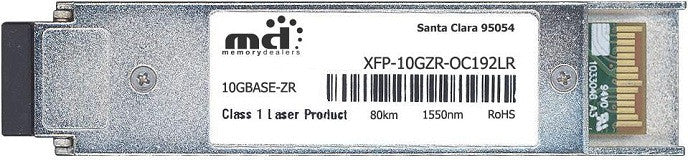 Cisco XFP Transceivers XFP-10GZR-OC192LR (100% Cisco Compatible) XFP Transceiver Module