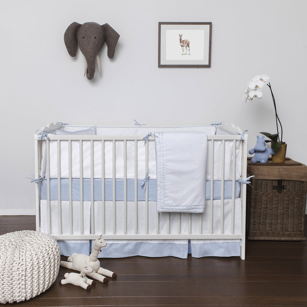 Bleu Crib Skirt