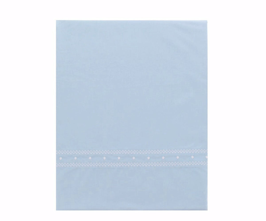 Pima Cotton Bleu Crib Sheet