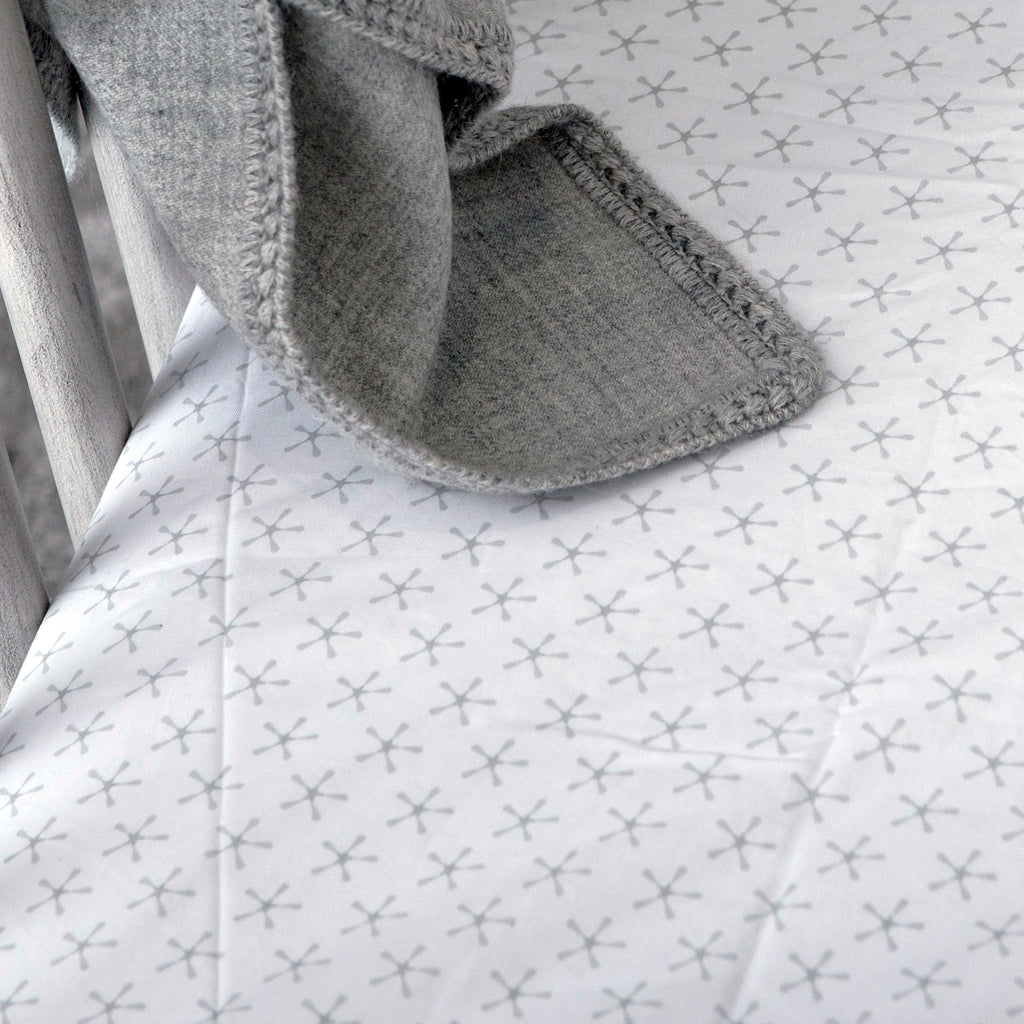 Superstar Crib Fitted Sheet - grey