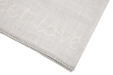 Love Message Roi Hand Crochet, Baby Alpaca Blanket