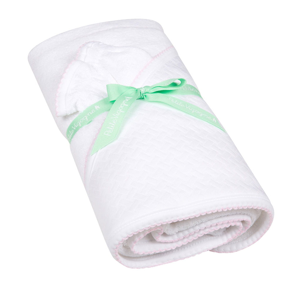Pima Cotton Baby Hooded Towel with washing cloth