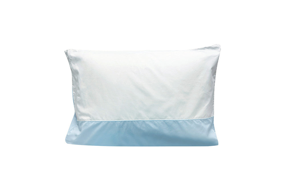 Pima Cotton Twin Colorblock Sham - Blue