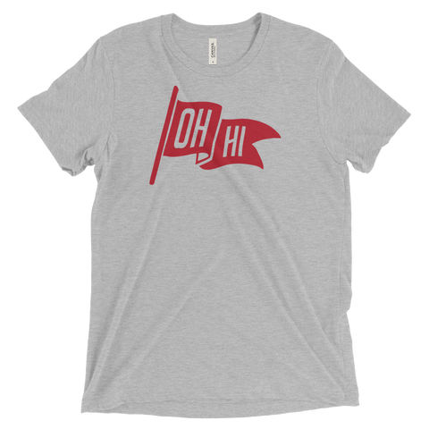 OH HI Red FLAG TRI-BLEND GRAPHIC TEE