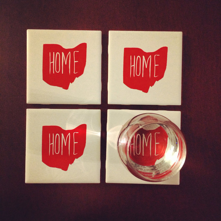 HOME OHIO™ 4 PIECE COASTER SET