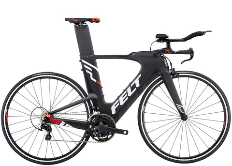 Vélo de Triathlon Felt IA16 All Black Edition Triathlon Bike 2018 - Avec selle ISM