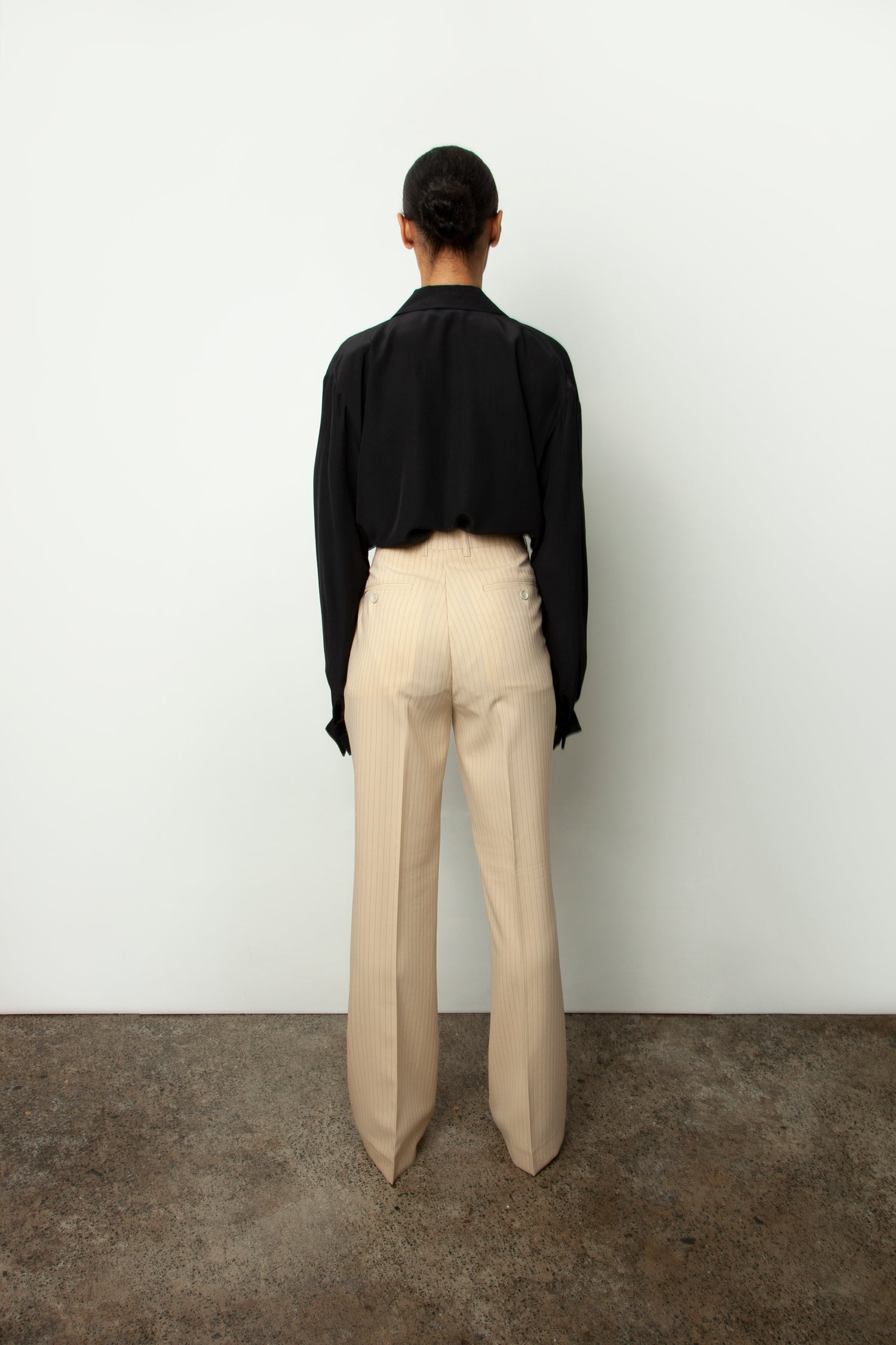 FLARED PINSTRIPE TROUSER