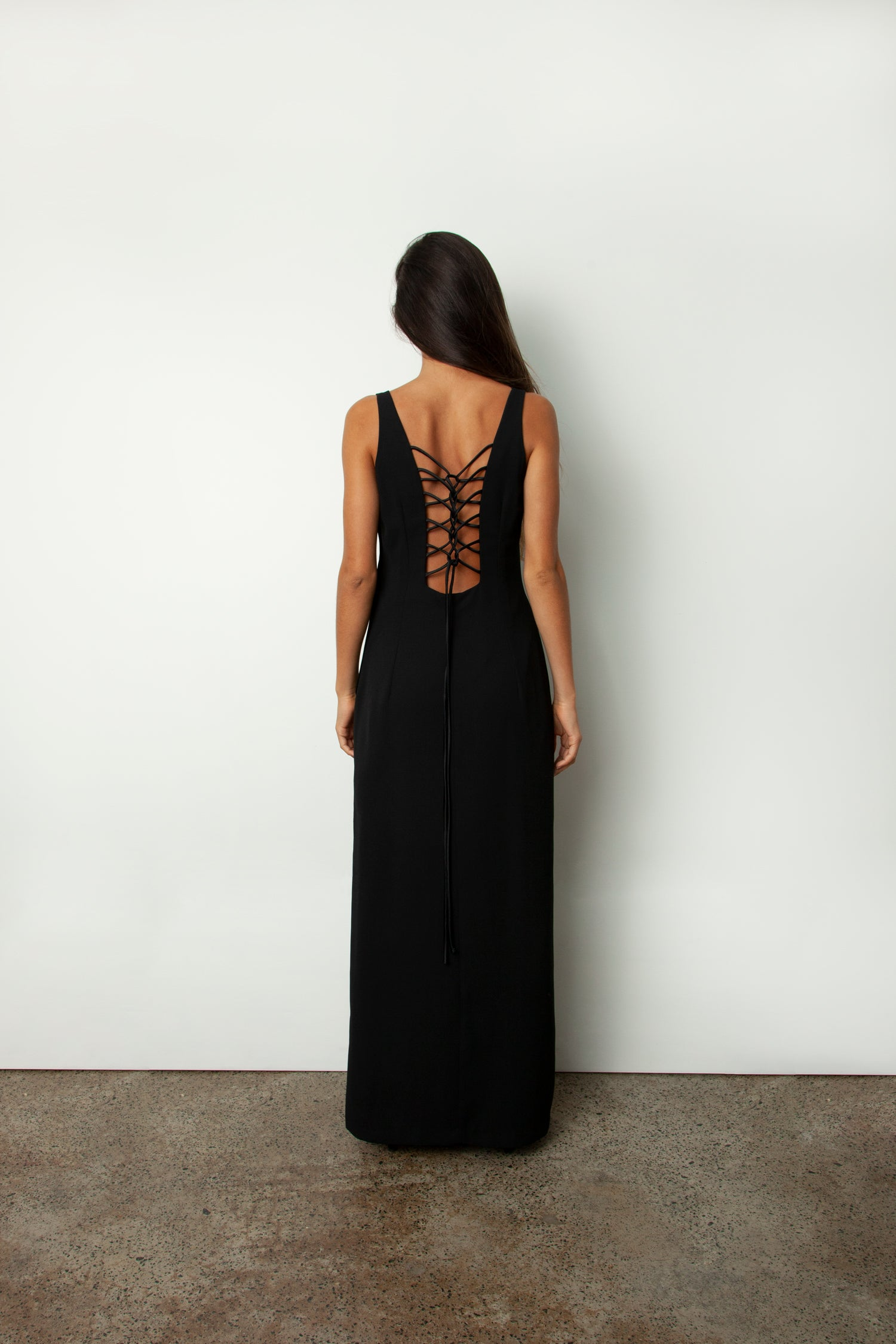 ROULEAU BACK DRESS