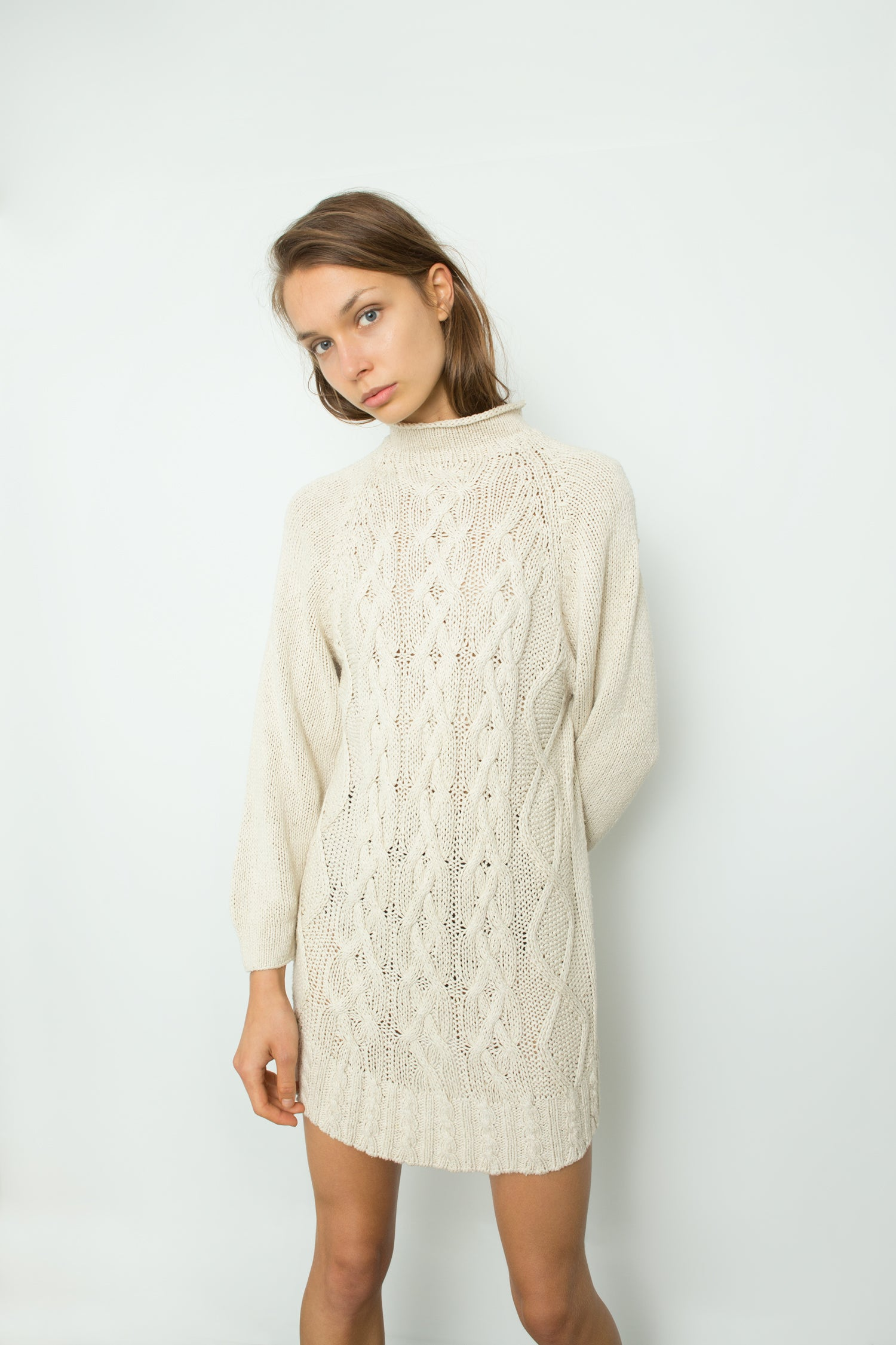 SILK CABLE KNIT TUNIC