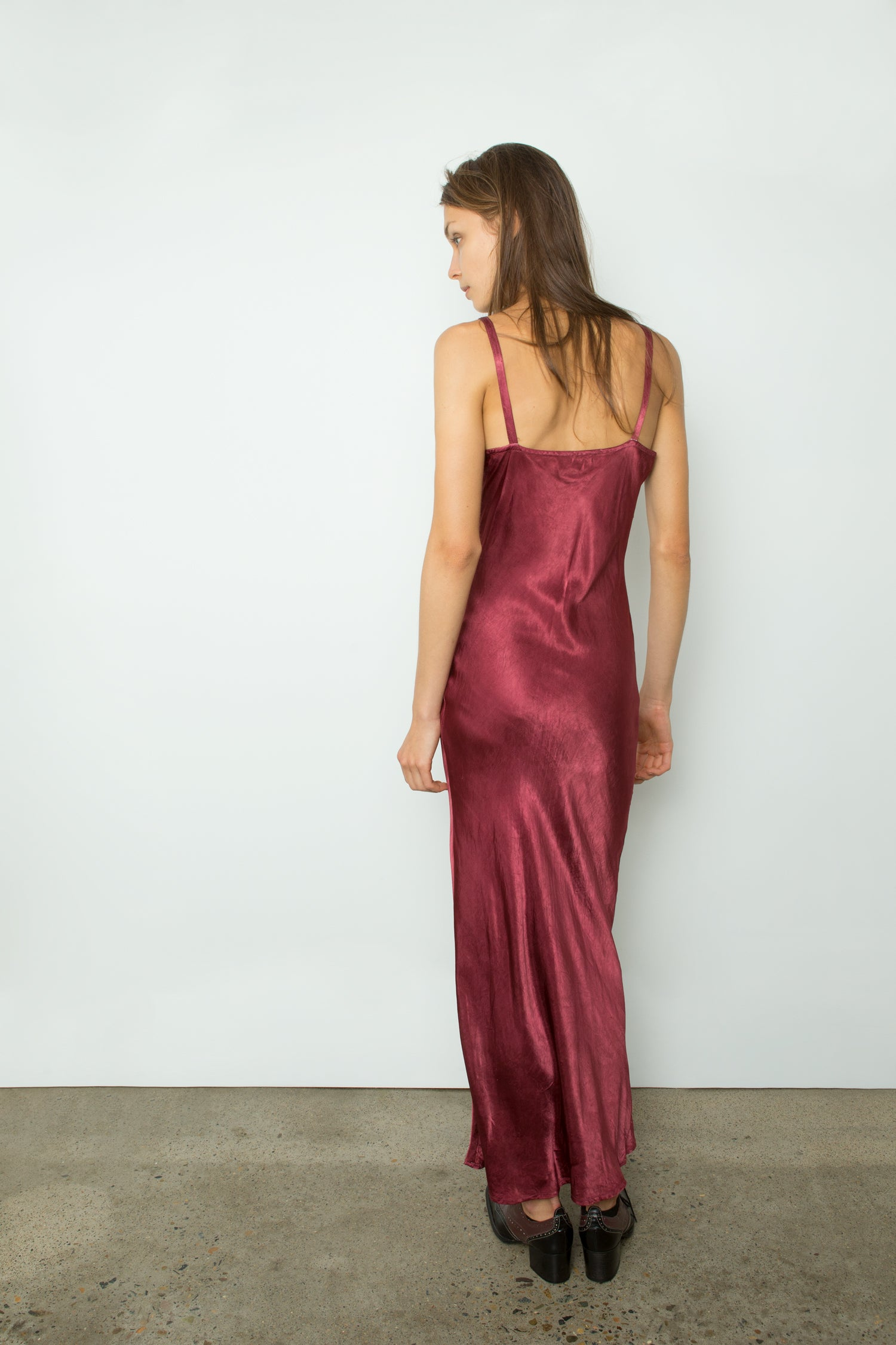 SLINKY BIAS SLIP DRESS
