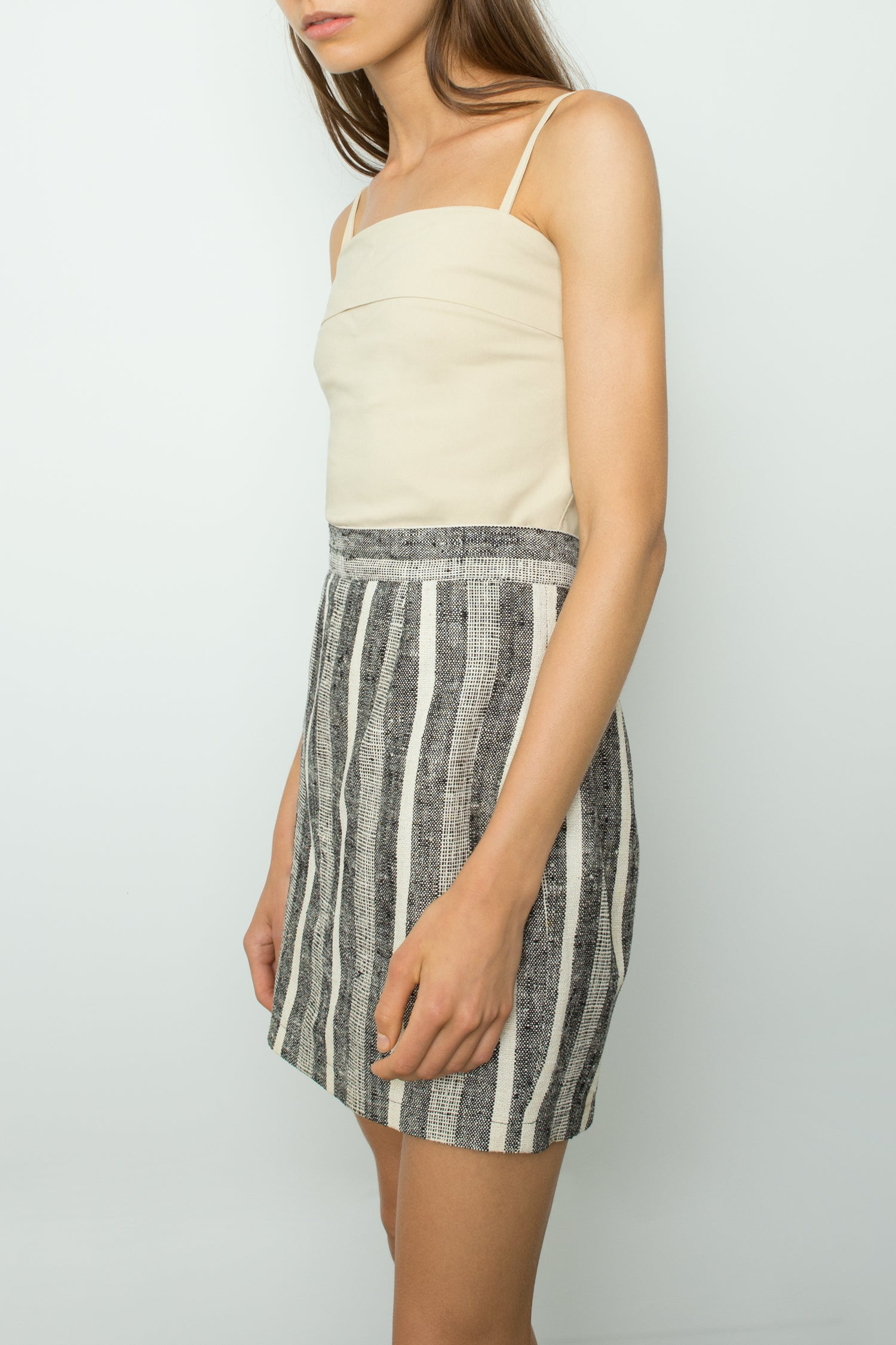 STRIPE SILK MINI